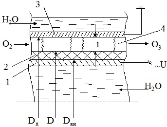 Электродная система озонатора
