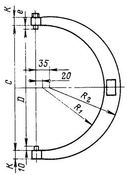 Схема разрезки кольца трубы на образцы