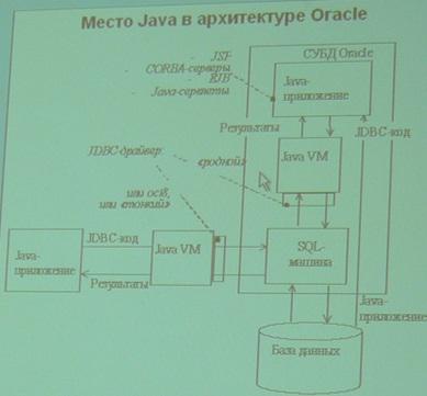 Место Java в архитектуре Oracle